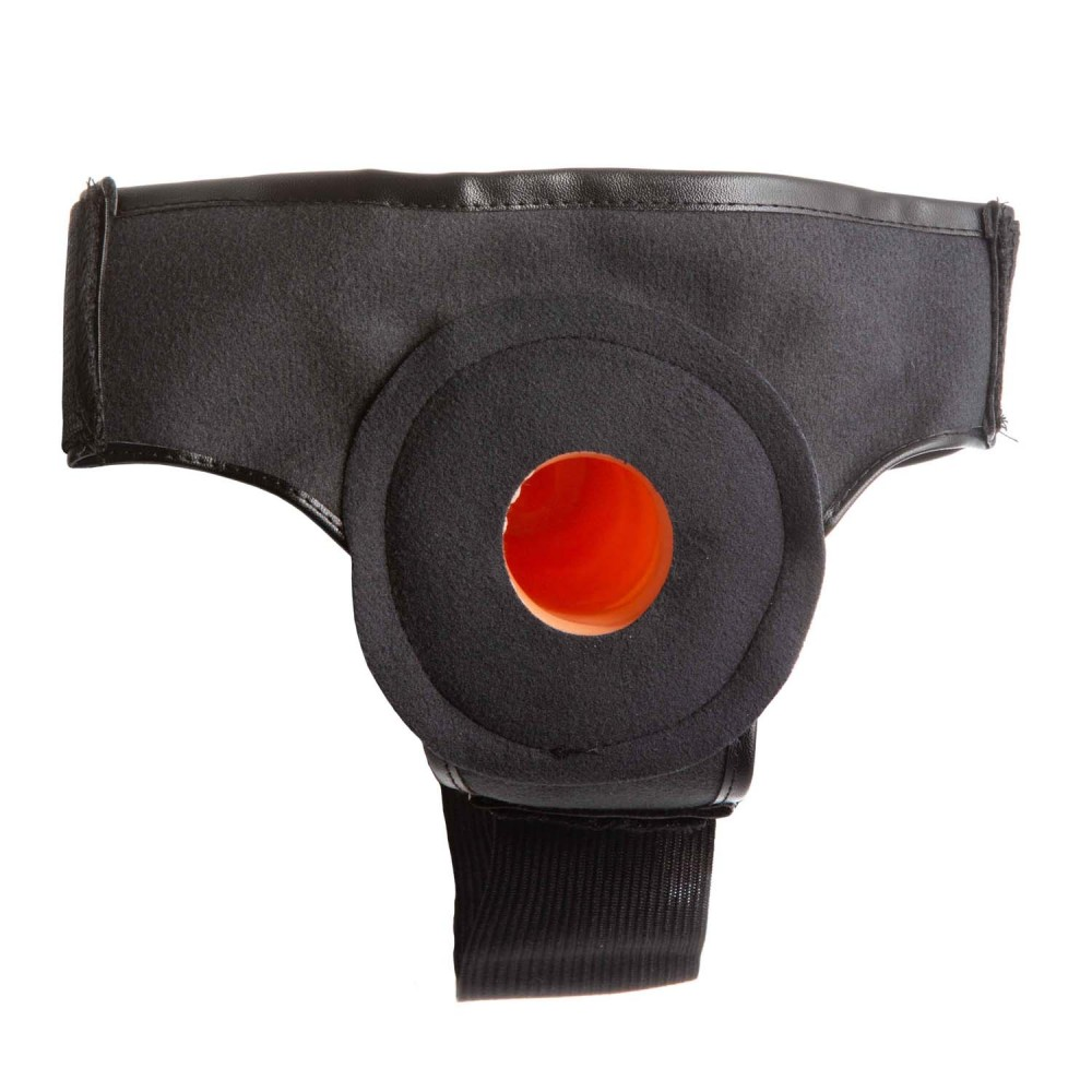 Страпон полый (фаллопротез) бежевый с трусами Wearable Sleeve 16 см. диаметр - 5 см. (31894)
