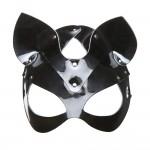 Маска-кошка черная лаковая