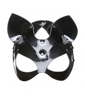 Маска-кошка черная лаковая - No Taboo