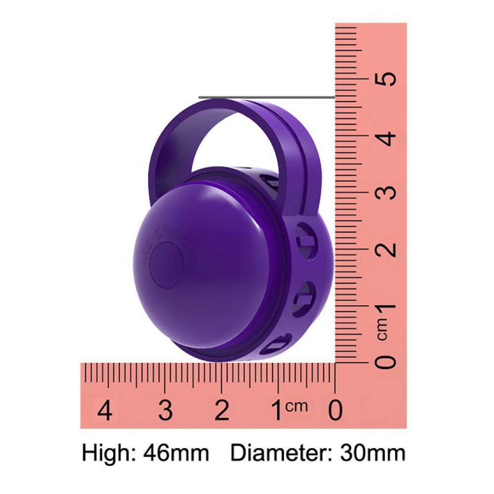 Вибро-шарик на палец ML Creation (My Love) Cute Bullet, фиолетовый - No Taboo