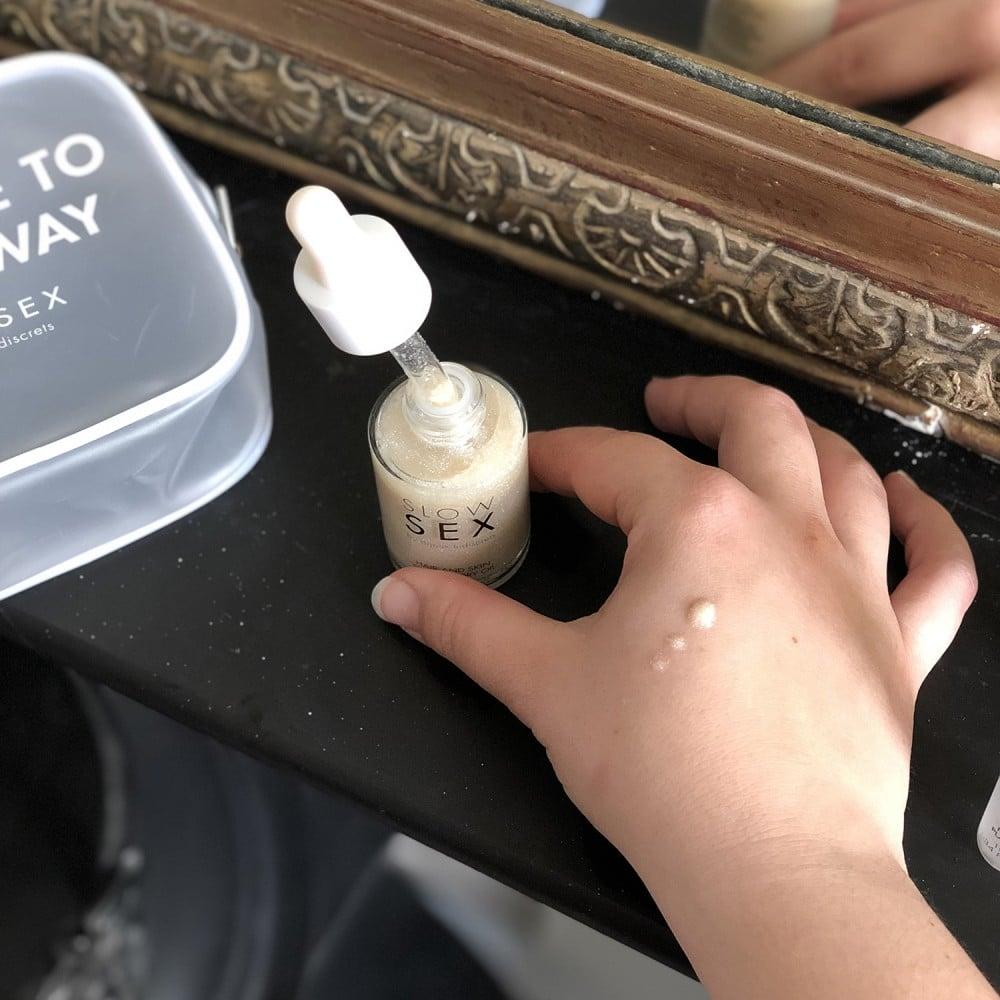 Мерцающее сухое масло для тела и волос Slow Sex by Bijoux (34693), фото 7