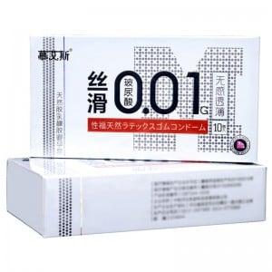 Презервативы латексные ультратонкие 0.01 мм 10 шт, цена за упаковку (32622), zoom