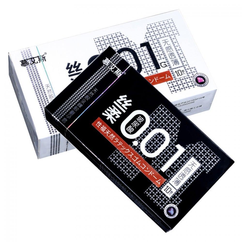 Презервативы ультратонкие латексные 0.01 мм 10 шт, цена за упаковку (32622)