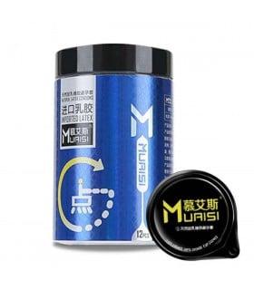 Презервативы латексные с пупырышками и повышенным количеством смазки 0.02 мм цена за 1шт синяя упаковка - No Taboo