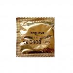 Презервативы с пролонгирующим эффектом Long Love золото 54 мм (поштучно) цена за 1 штуку