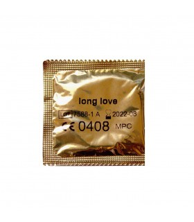 Презервативы с пролонгирующим эффектом Long Love золото 54 мм (поштучно) цена за 1 штуку - No Taboo