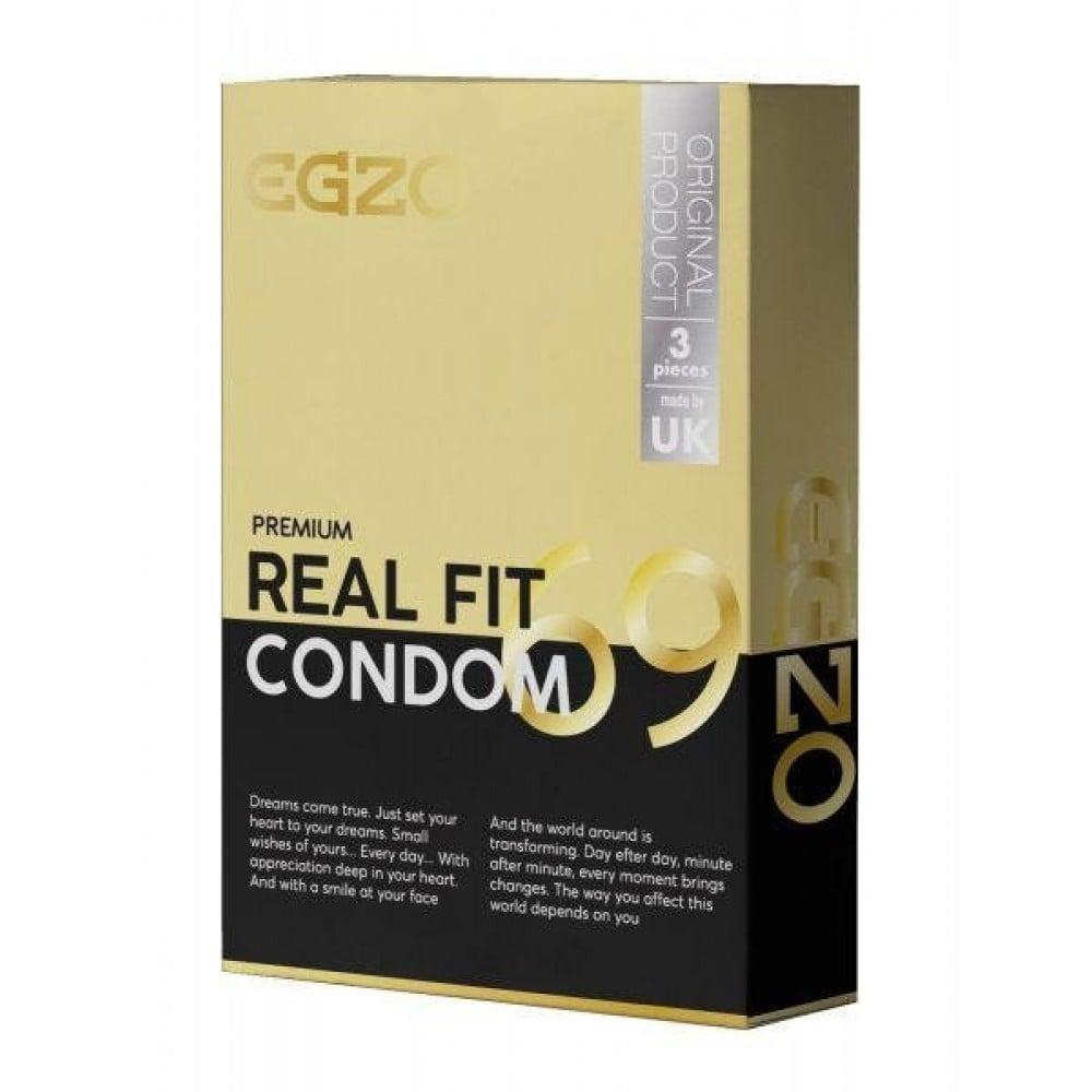 Анатомические презервативы EGZO Real fit №3 (32463), фото 1 — секс шоп Украина, NO TABOO