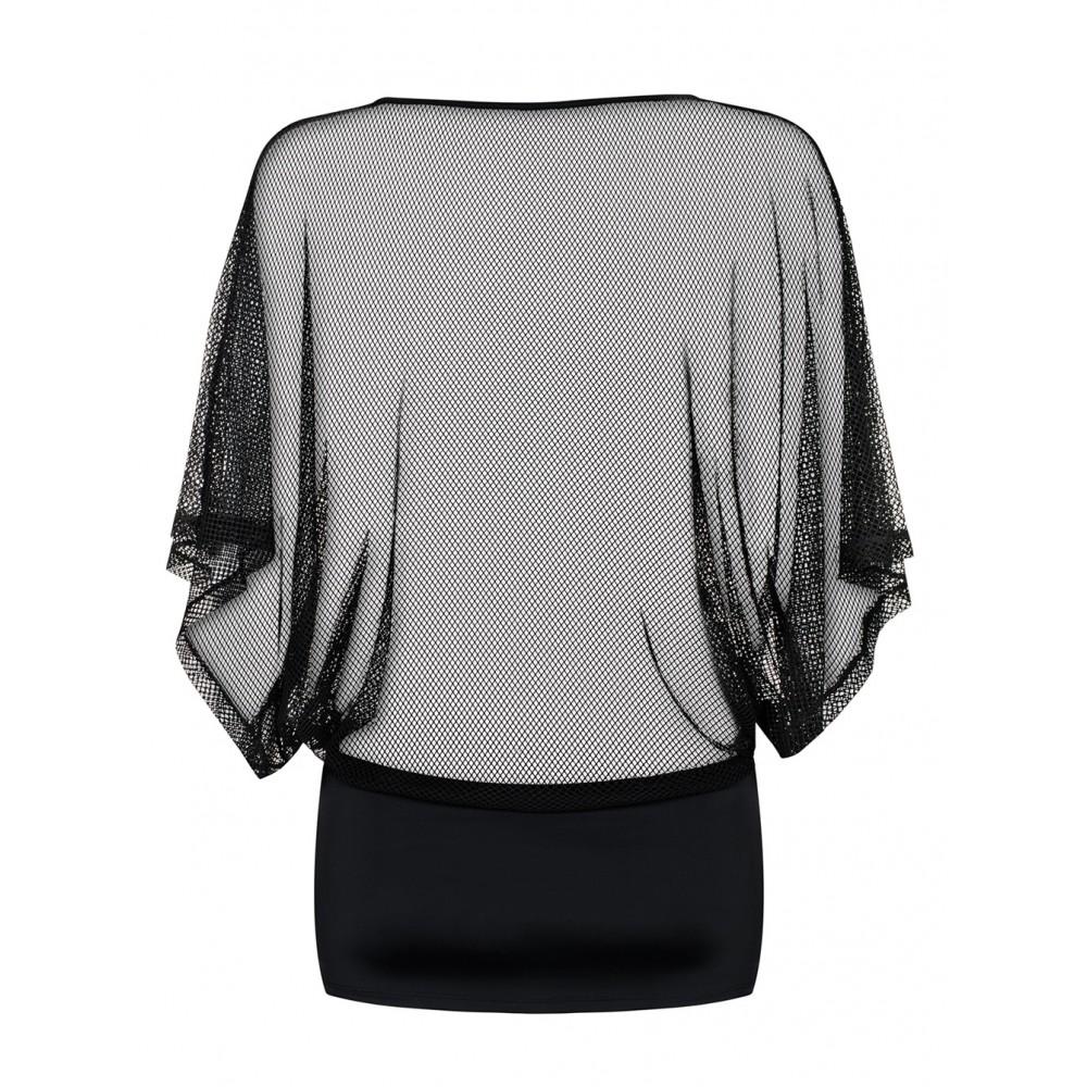 Сукня-сіточка еротичне прозоре Punker чорне, розмір S/M (9646)