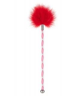 Пушок на длинной ручке красный, с металлическим шариком на конце - No Taboo
