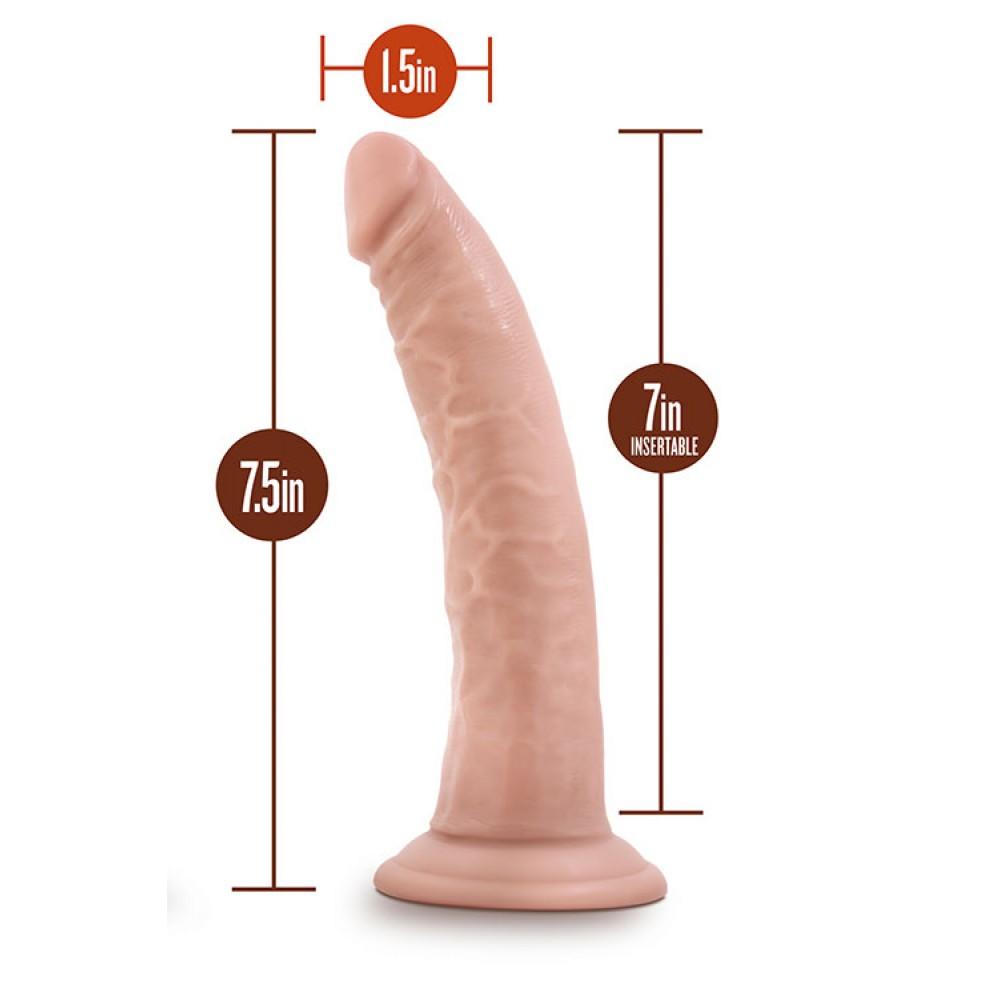 Фаллоимитатор реалистик на присоске, 17,5 х 3,8 см (33635)