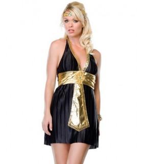 Костюм Богини Нила: чёрное платье с глубоким декольте - No Taboo