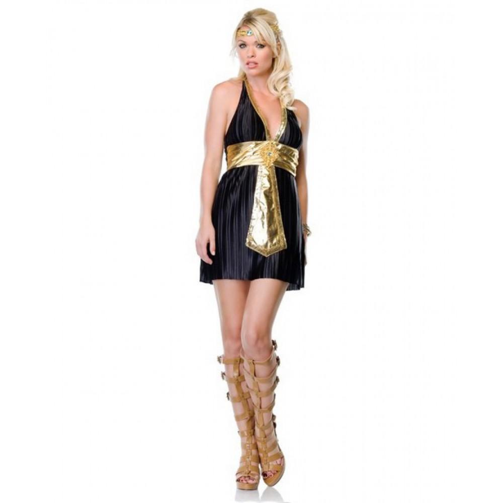 Костюм богині Нілу плаття, чорне, S / M (8162)