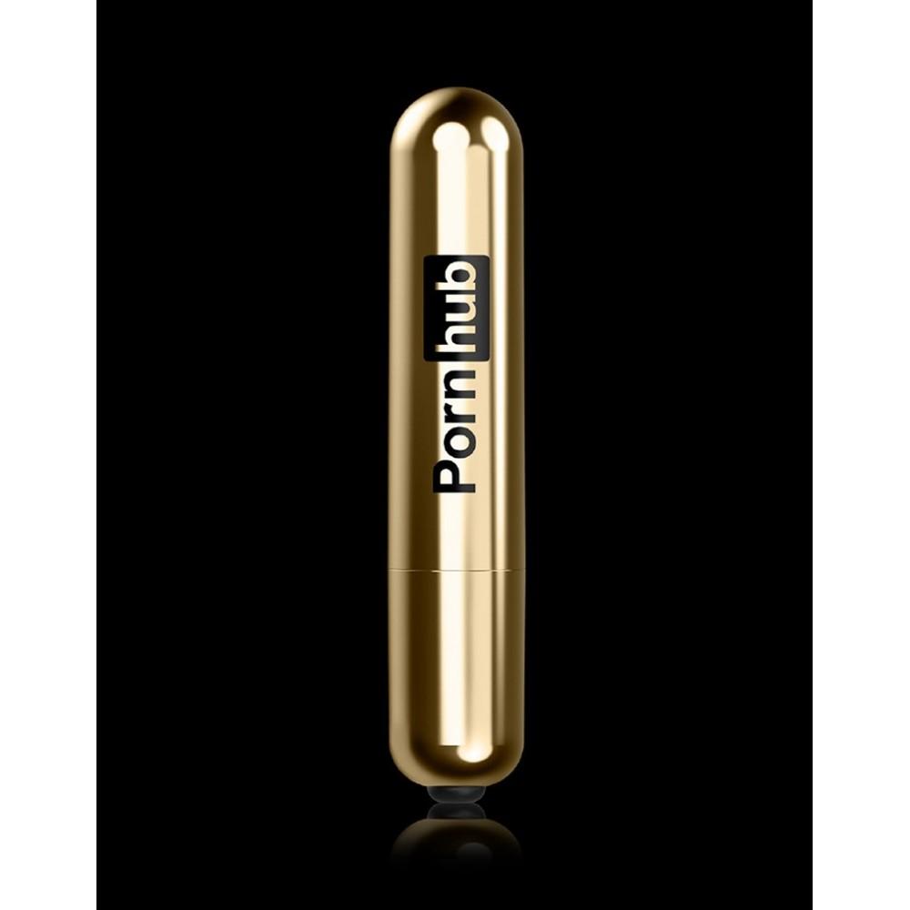 Вибропуля для стимуляции клитора, золотая, Pornhub (38681), фото 7 — секс шоп Украина, NO TABOO