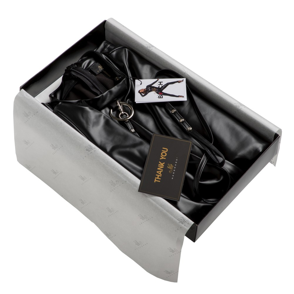 Спідниця з декоративними складками F177 Noir Handmade L (31932)