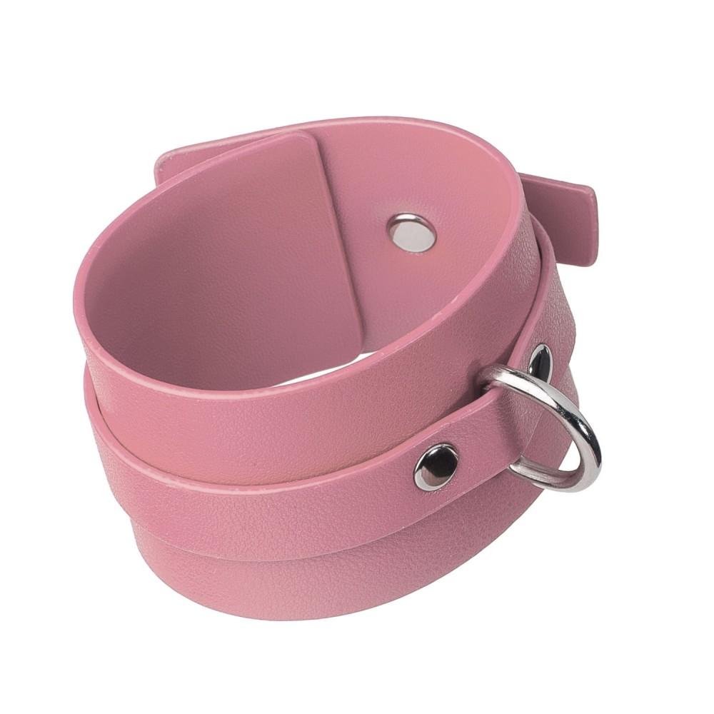 Стильный бондажный набор в сумочке, розовый, замкожа (38233), фото 8 — секс шоп Украина, NO TABOO