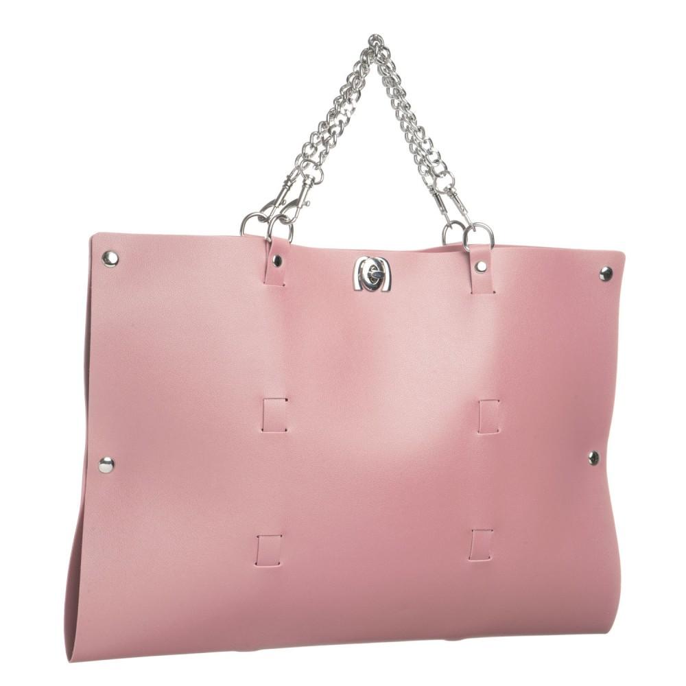 Стильный бондажный набор в сумочке, розовый, замкожа (38233), фото 4 — секс шоп Украина, NO TABOO