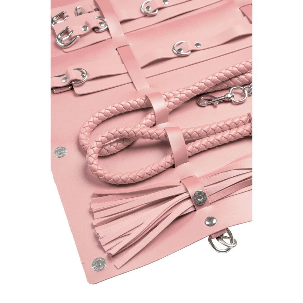 Стильный бондажный набор в сумочке, розовый, замкожа (38233), фото 3 — секс шоп Украина, NO TABOO