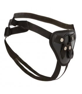 Трусики для страпона с 2 силиконовыми кольцами для крепления, черные - No Taboo