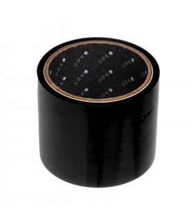 Лента бондажная статическая, черная, из ПВХ, UPKO, 16 метров - No Taboo