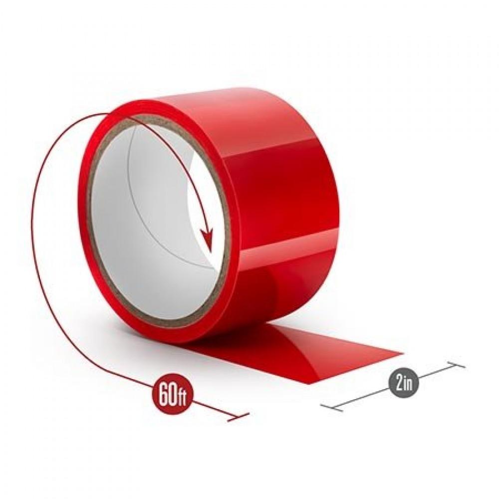 Лента бондажная статическая, PVC, красная, 18 метров (34017), фото 3