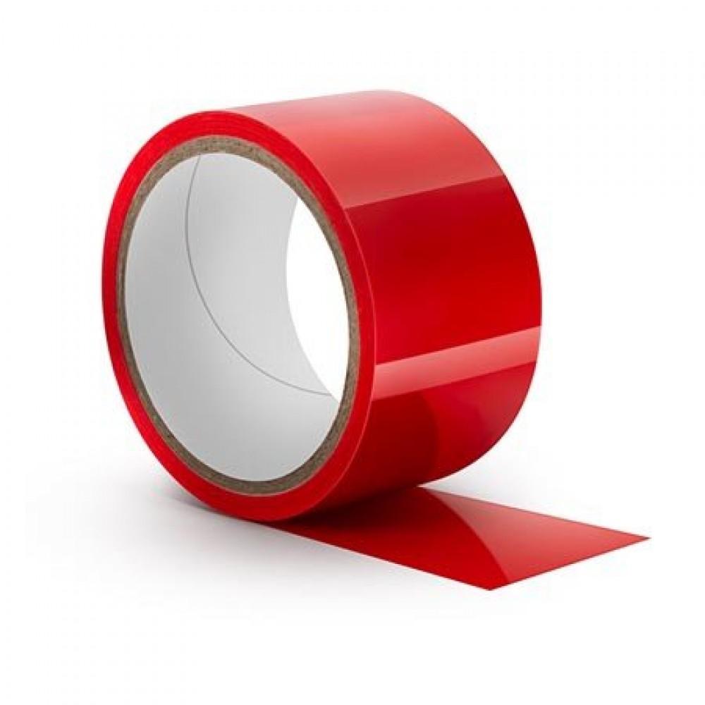 Лента бондажная статическая, PVC, красная, 18 метров (34017), фото 2