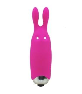 Мини-вибратор в виде кролика, розовый, Adrien Lastic Pocket Vibe Rabbit Pink - No Taboo