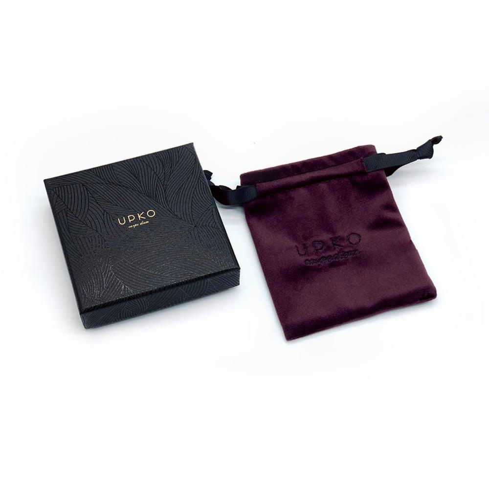 Браслет-наручники італійська шкіра, чорний, UPKO (32447)