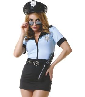 Костюм сексуальной полицейской, платье, LeFrivole, L/XL - No Taboo