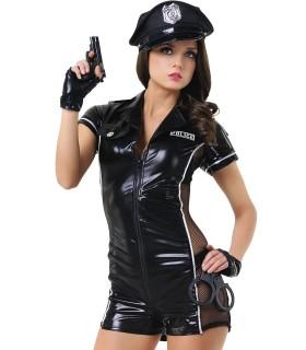 Рольовий костюм еротичної поліцейської LeFrivole, 6 предметів, L/XL - No Taboo