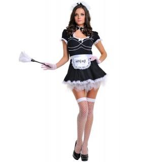Рольовий костюм покоївки, LeFrivole, чорне плаття, 6 предметів, L/XL - No Taboo