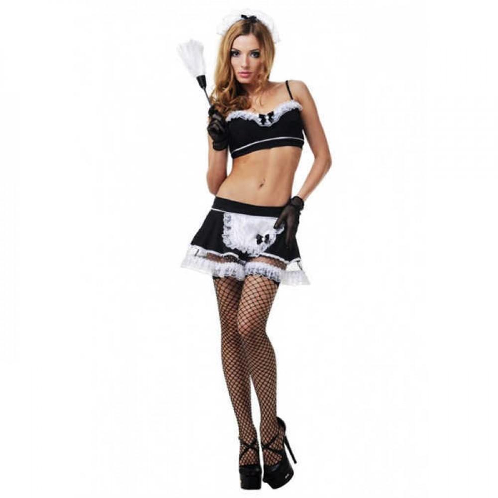 Ролевой костюм горничной LeFrivole, 6 предметов, чёрный L/XL (41964)