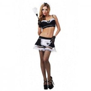 Ролевой костюм горничной LeFrivole, 6 предметов, чёрный L/XL (41964), zoom