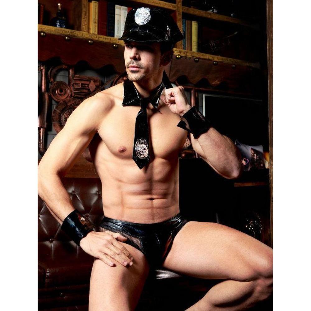 Эротический мужской костюм полицейского, 4 предмета, L/XL (32033), фото 1 — секс шоп Украина, NO TABOO
