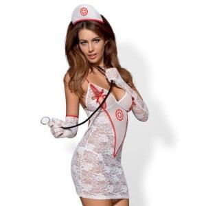 Ролевой костюм медсестры 5 предметов, S/M (9656), zoom