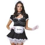 Костюм горничной черное платье, 6 предметов, M/L