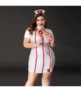 Костюм медсестры, 4 предмета, размер XL/XXL - No Taboo