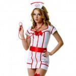 Костюм медсестры белый халат на молнии L/XL