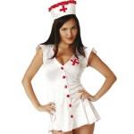 Ролевой костюм медсестры с красными пуговицами S/M