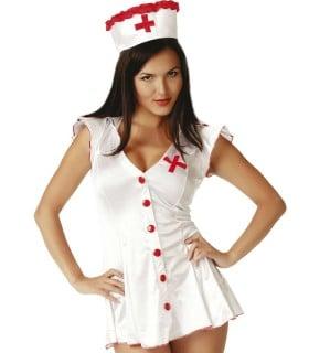 Рольовий костюм медсестри з червоними гудзиками S / M - No Taboo