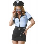Костюм полицейская платье голубой верх, 5 предметов M/L