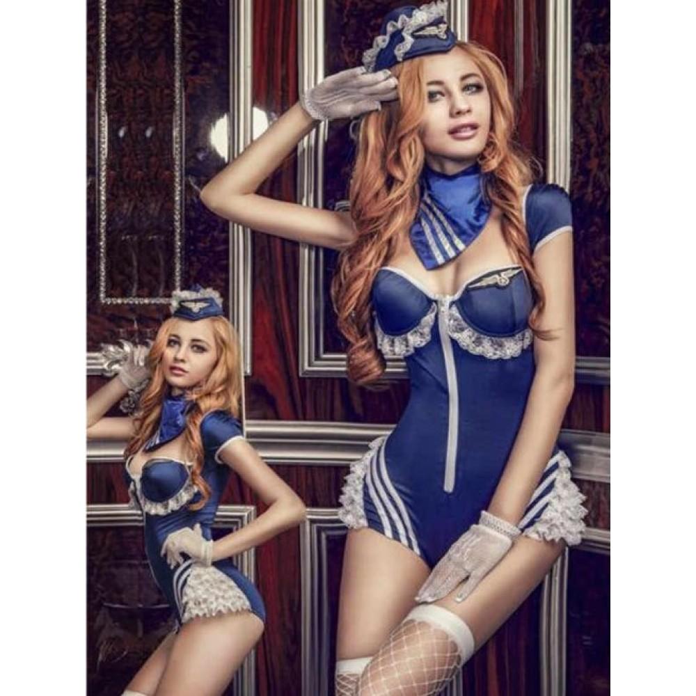 Костюм Сексуальной Стюардессы, 5 предметов (32012), фото 1 — секс шоп Украина, NO TABOO