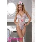 Костюм секси медсестры в виде боди, размер One size