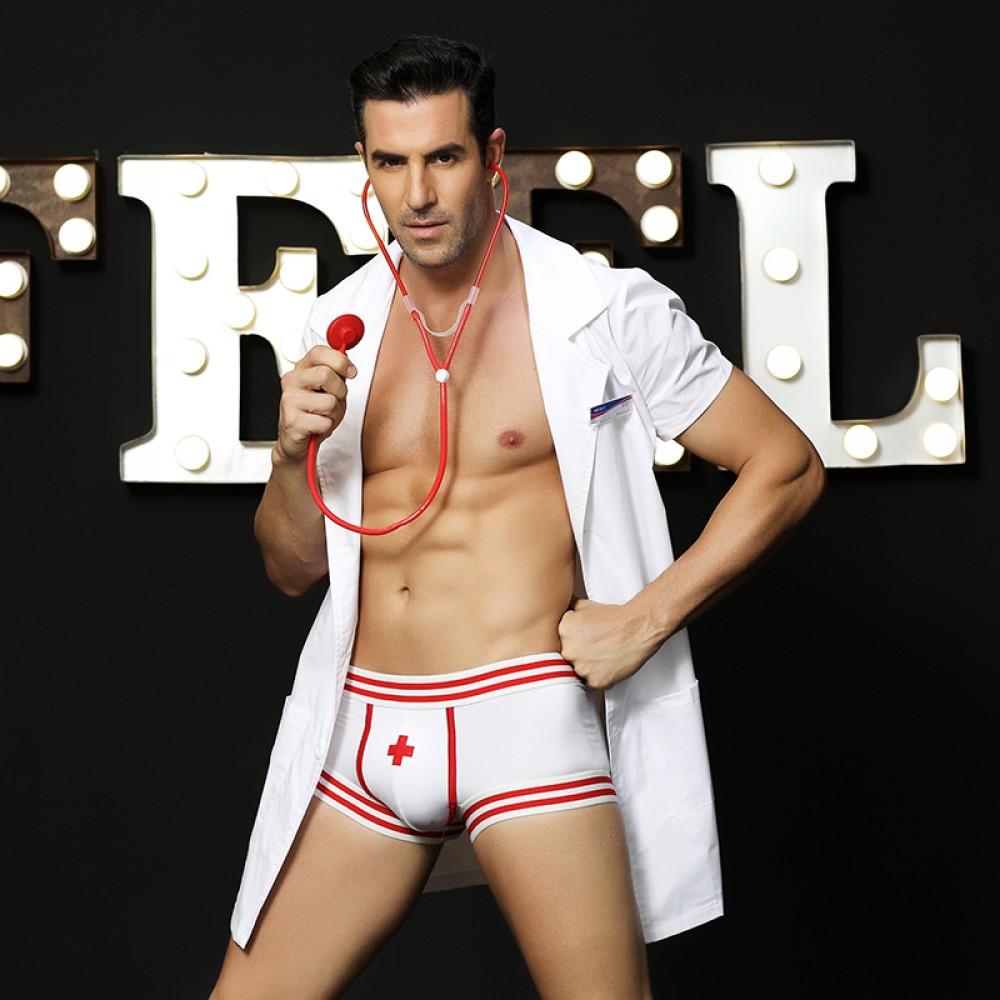 Эротический мужской костюм секси доктора, 4 предмета, размер L/XL (32004), фото 1 — секс шоп Украина, NO TABOO