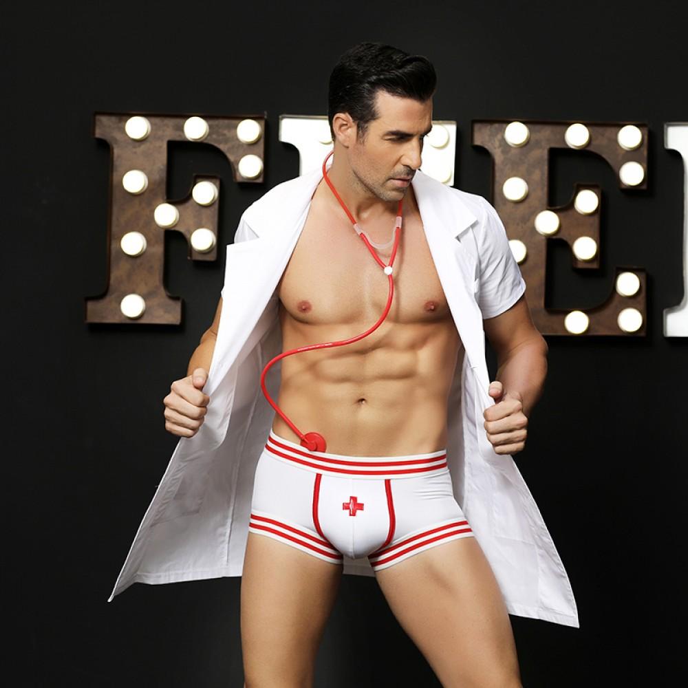 Эротический мужской костюм секси доктора, 4 предмета, размер L/XL (32004), фото 2 — секс шоп Украина, NO TABOO