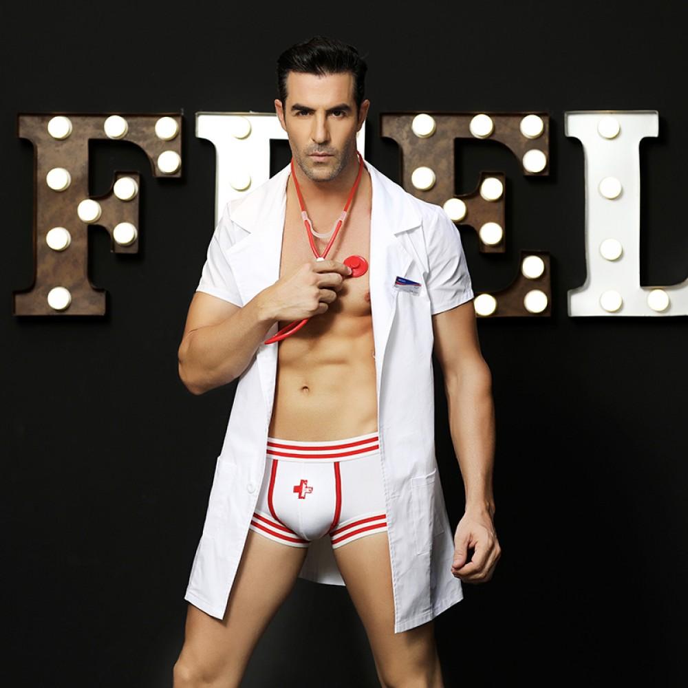 Эротический мужской костюм секси доктора, 4 предмета, размер L/XL (32004), фото 3 — секс шоп Украина, NO TABOO