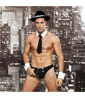 Мужской секси костюм опасного мафиози, 5 предметов - No Taboo