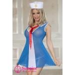 Платье морячки O/S