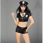 Секси костюм полицейской, шорты топ, 6 предметов