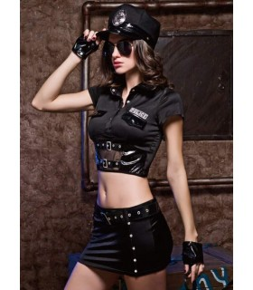 Секси костюм строгой полицейской 7 предметов, размер S/M - No Taboo