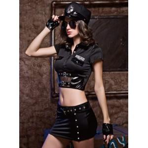 Секси костюм строгой полицейской 7 предметов, размер S/M (32030), zoom